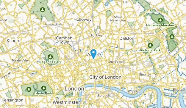 London, Islington Map