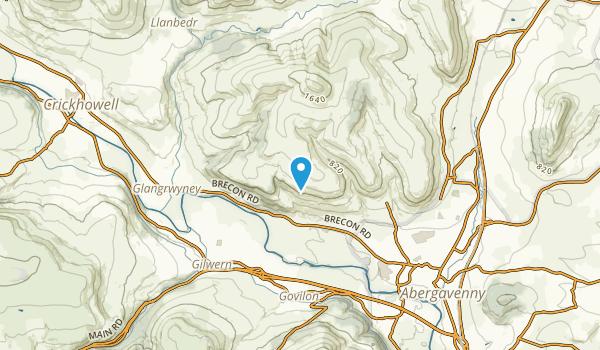 Llanfoist Fawr Community, Monmouthshire Map