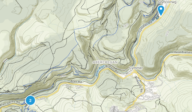Glyncorrwg Community, Neath Port Talbot Map