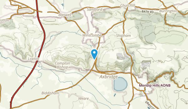 Compton Bishop Civil Parish, North Somerset Map