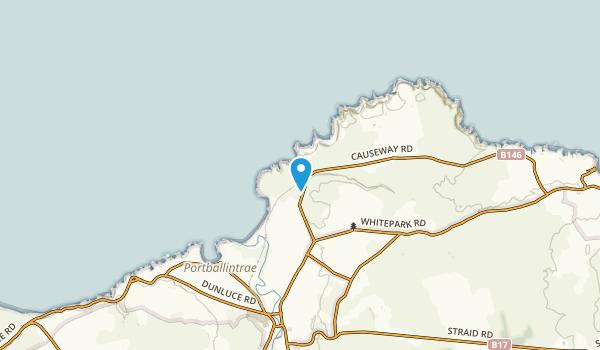 Bushmills, Northern Ireland Map