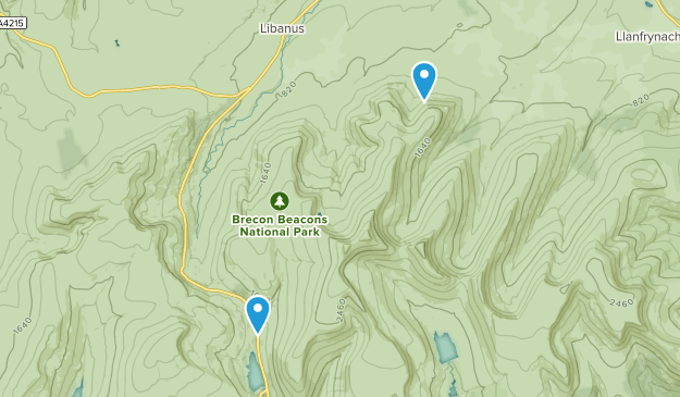 Glyn Tarell Community, Powys Map
