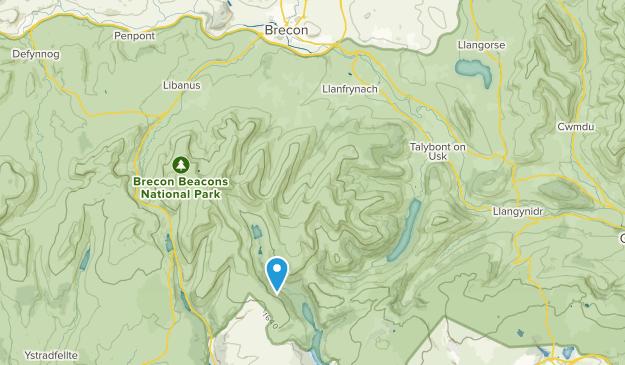 Llanfrynach Community, Powys Map