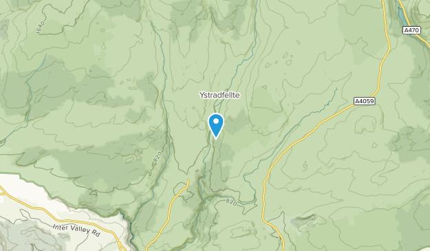 Ystradfellte Community, Powys Map