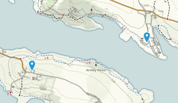 Whitwell Civil Parish, Rutland Map