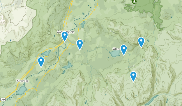 Aviemore, Scotland Map