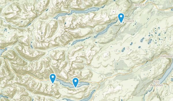 Glen Affric, Scotland Map