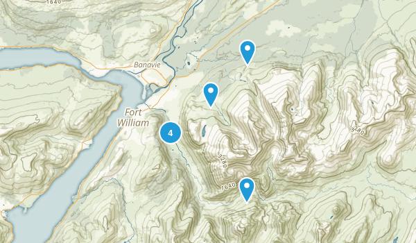Glen Nevis, Scotland Map