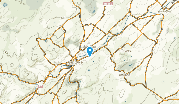 Hawick, Scotland Map