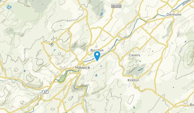 Hawick, Scotland Map