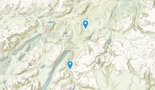 Newtonmore, Scotland Map