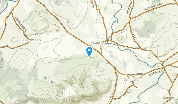 Thankerton, Scotland Map
