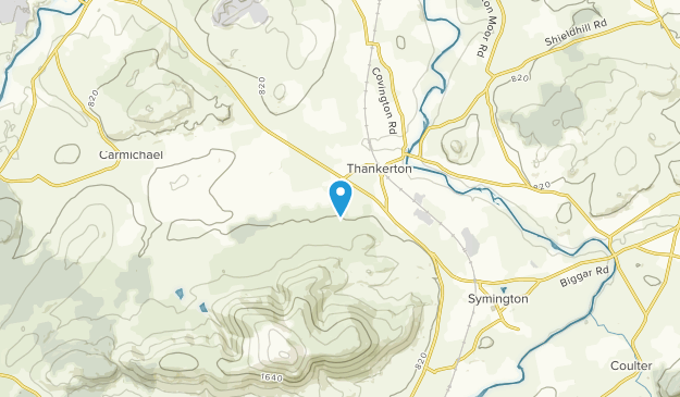 Thankerton, Scotland Map