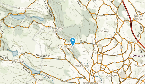 Bradfield Civil Parish, Sheffield Map