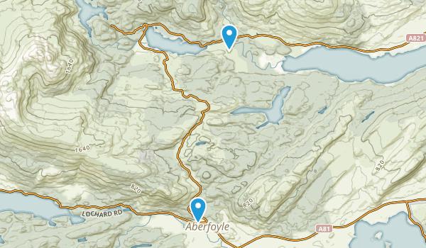 Aberfoyle, Staffordshire Map