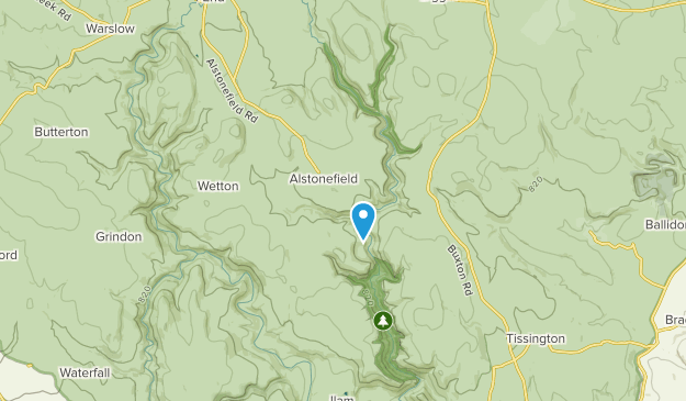 Alstonefield, Staffordshire Map