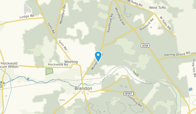 Brandon, Staffordshire Map