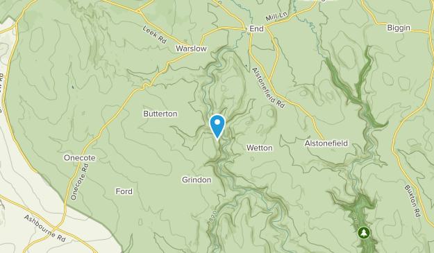 Butterton Civil Parish, Staffordshire Map