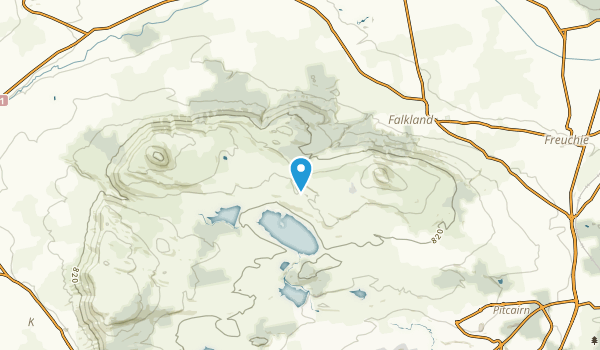 Falkland, Staffordshire Map
