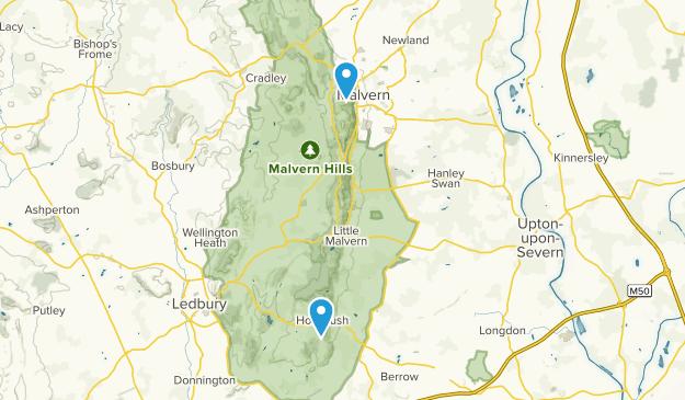 Malvern, Staffordshire Map