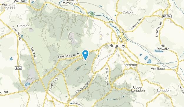 Slitting Mill, Staffordshire Map