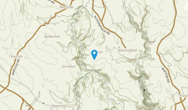 Wetton, Staffordshire Map