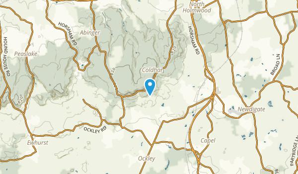 Capel Civil Parish, Surrey Map