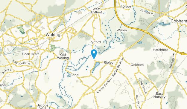 Pyrford, Surrey Map