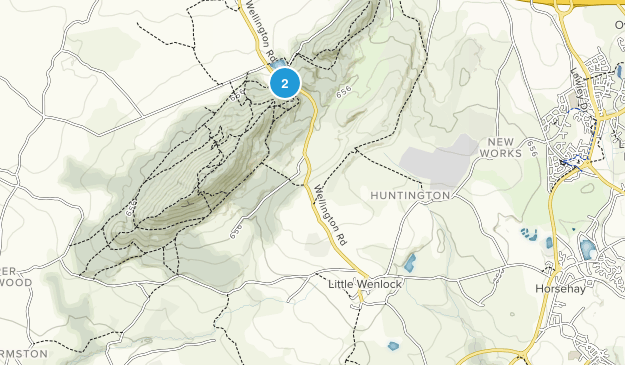 Little Wenlock Civil Parish, Telford and Wrekin Map