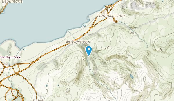 Aber Community, Wales Map