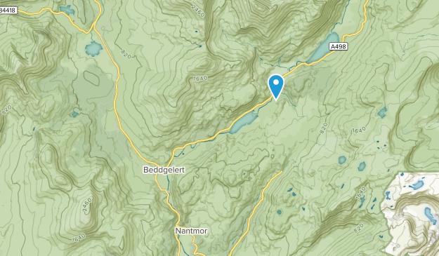 Beddgelert Community, Wales Map