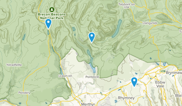 Brecon, Wales Map
