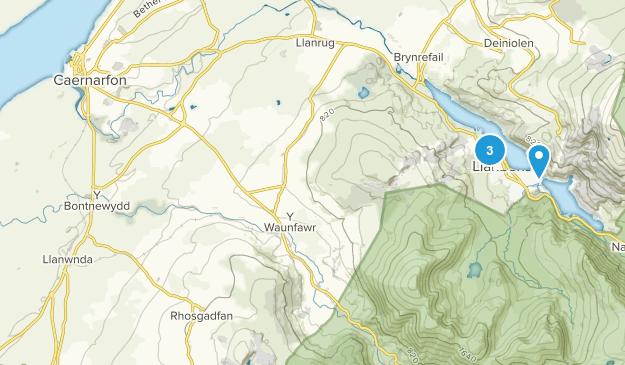 Caernarfon, Wales Map