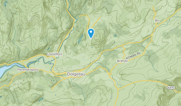 Dolgellau, Wales Map