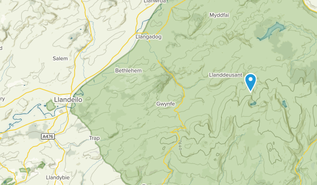 Llandeilo, Wales Map