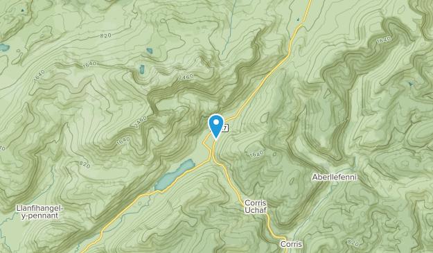 Upper Corris, Wales Map