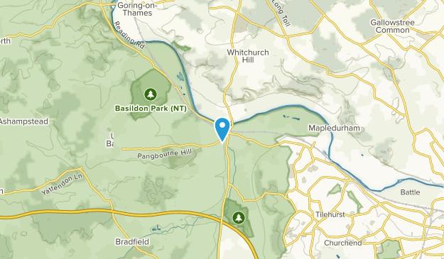 Pangbourne Civil Parish, West Berkshire Map