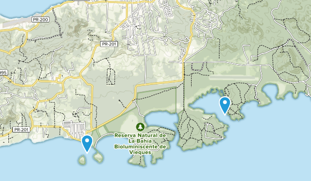 Vieques, United States Map