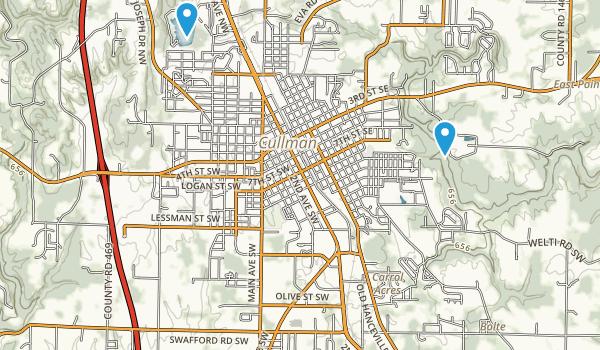 Cullman, Alabama Map