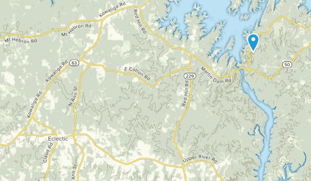 Eclectic, Alabama Map
