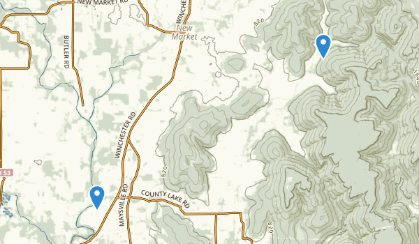 trail locations for New Market, Alabama