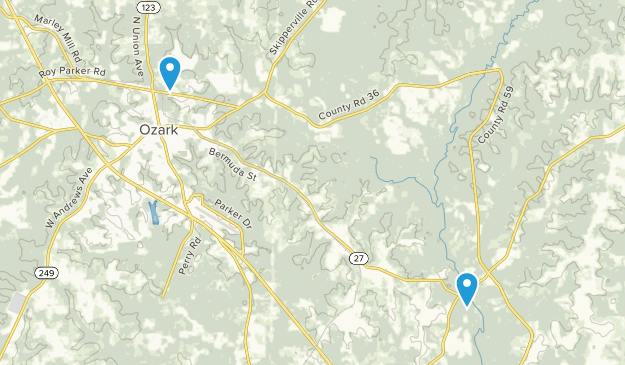 Ozark, Alabama Map
