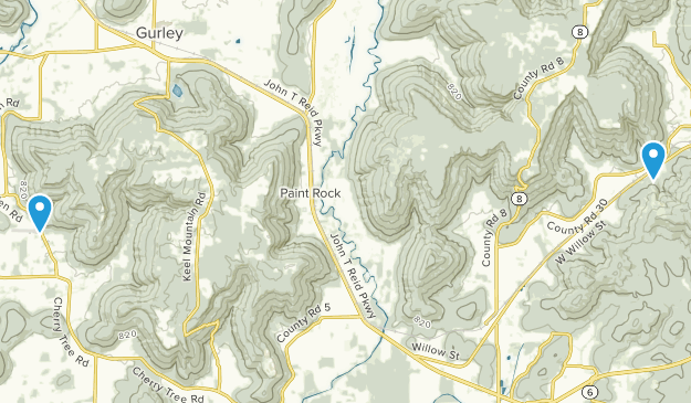 Paint Rock, Alabama Map