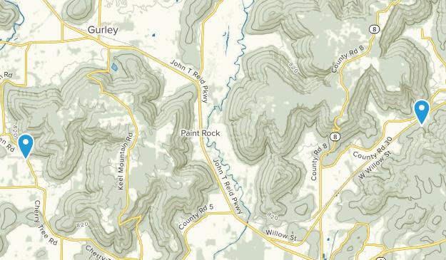 Paint Rock, Alabama Map