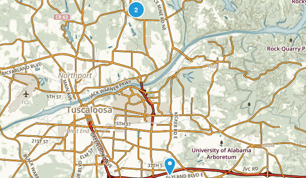 Tuscaloosa, Alabama Map
