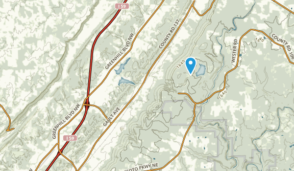 Valley Head, Alabama Map