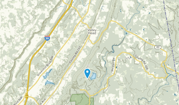 Valley Head, Alabama Map
