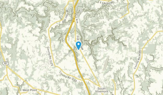 Vinemont, Alabama Map