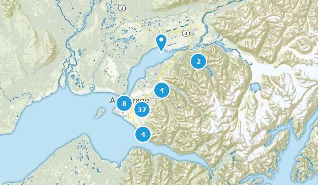 Anchorage, Alaska Map