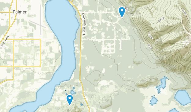 Butte, Alaska Map